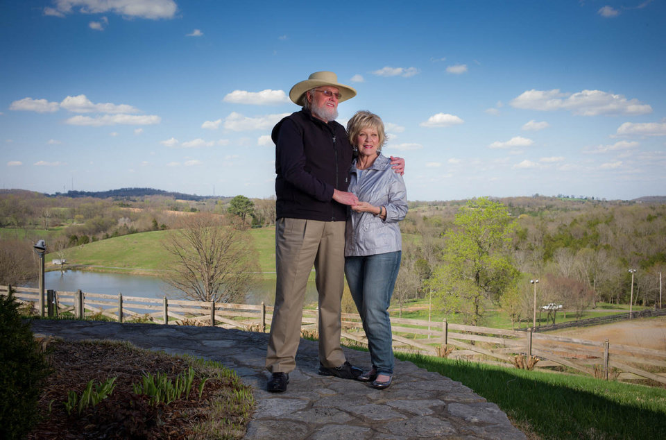 Photo - Country singer Charlie Daniels and wife Hazel  are shown together in April at their Twin Pines Ranch outside Nashville, Tenn. Phil Penman/Corbis Outline shot for Closer Weekly    PHIL PENMAN -  PHIL PENMAN