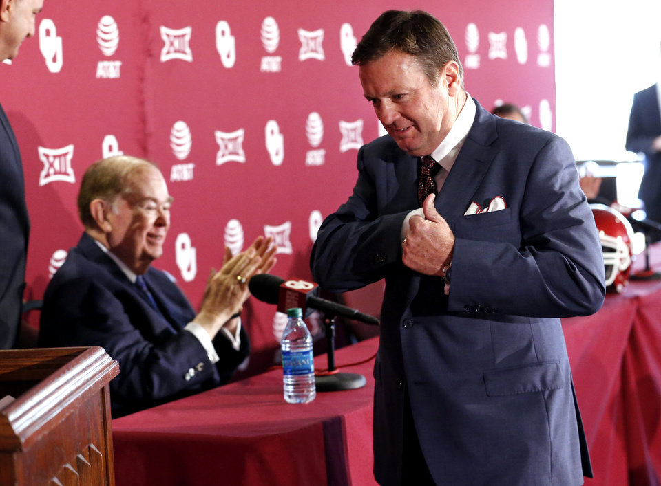 Photo -  University of Oklahoma head football coach Bob Stoops gave many players second chances during his 18 years as OU's head coach. [Photo by Steve Sisney, The Oklahoman]