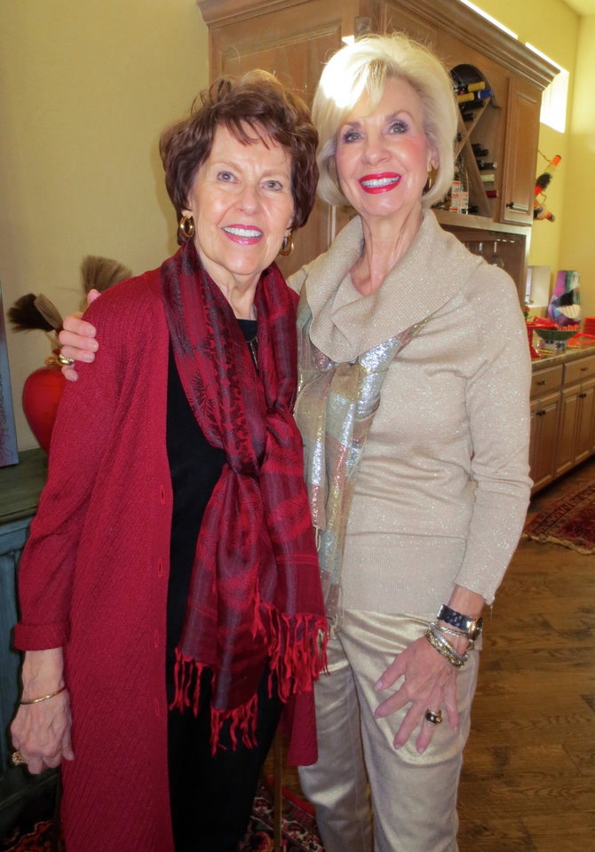 Photo - Susie Nelson and Joy Richardson. PHOTO BY HELEN FORD WALLACE, THE OKLAHOMAN