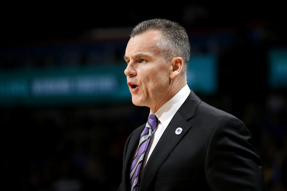 Photo - Oklahoma City coach Billy Donovan shouts instructions during an NBA basketball game between the Oklahoma City Thunder and the San Antonio Spurs at Chesapeake Energy Arena in Oklahoma City, Saturday, March 26, 2016. Oklahoma City won 11-92. Photo by Bryan Terry, The Oklahoman