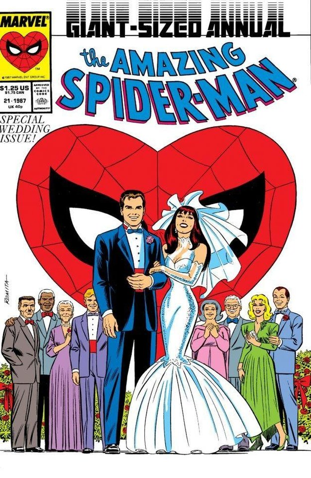 Photo - This issue featured the wedding of Peter Parker and Mary Jane Watson, which has been essentially wiped from continuity. [Marvel Comics]