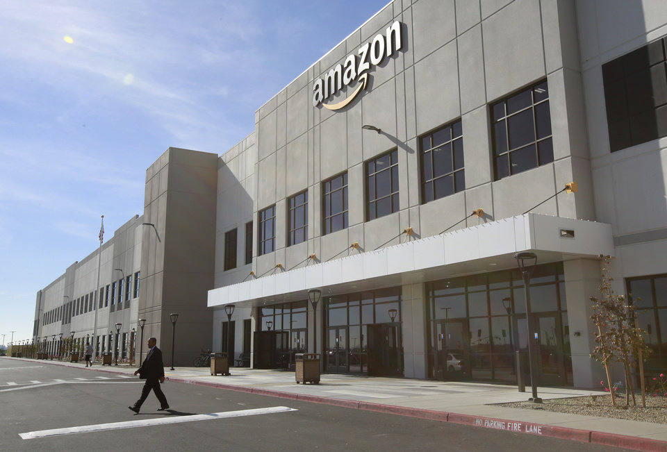 Photo -  The new Amazon Fulfillment Center is seen Feb. 9 in Sacramento, Calif. The center opened in October 2017. [AP FILE PHOTO]