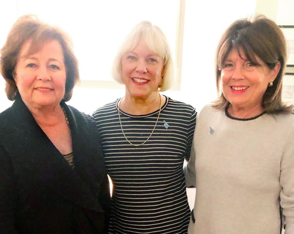 Photo -  Marilyn Case, Melissa Burget and Patty Tague.