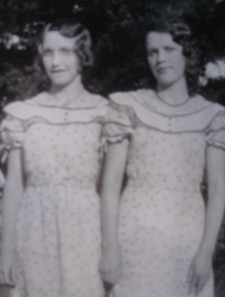 Photo - Fraternal twins Ruby Woods and Ruth Martin were born December 9, 1913 to Ross Riley and Maude Riley. The twins hve spent nearly their entire lives together, with their families. ORG XMIT: 0812081610582809  Provided