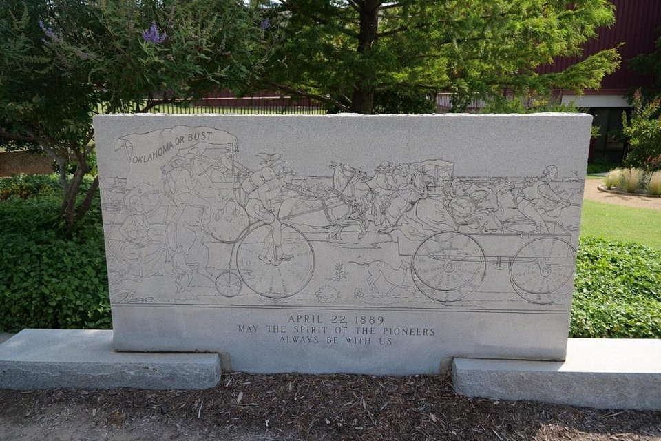 Photo - Oklahoma City Community College announced today that it has removed a controversial monument depicting the Oklahoma Land Run of 1889 from its campus. [Photo provided]