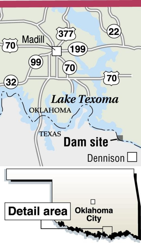 Striper fishing below the Red River dam at Texoma calls for