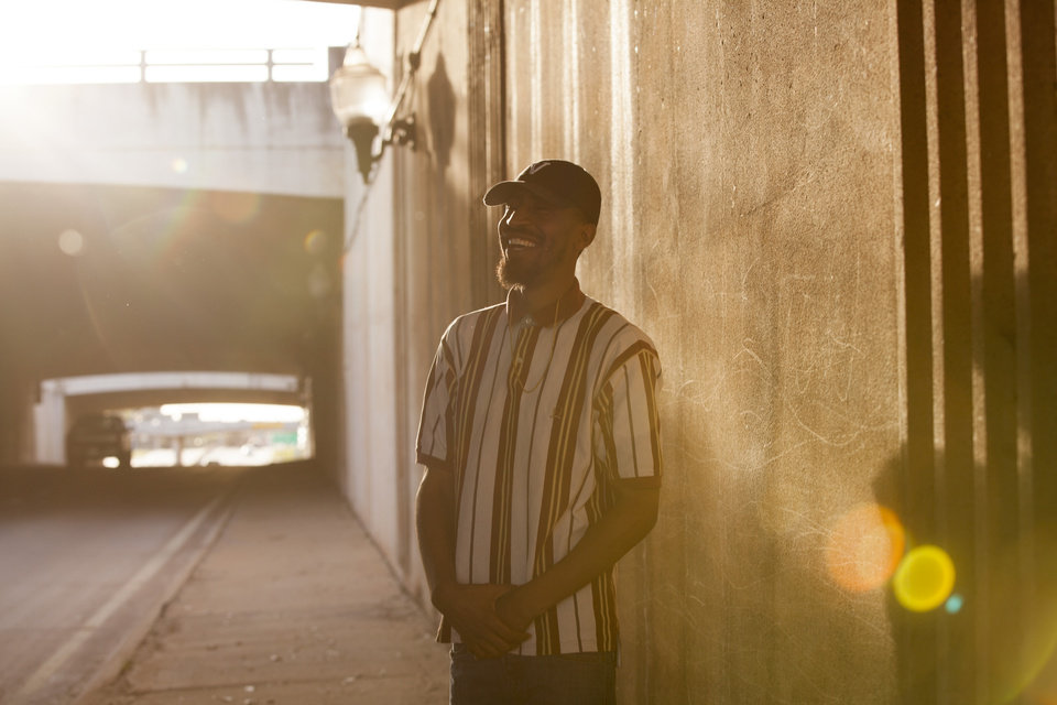 Photo - Oklahoma City-based rapper Ronnie Johnson released the top streamed Okie track debut on NewsOK. [Photo by Nathan Poppe, The Oklahoman]