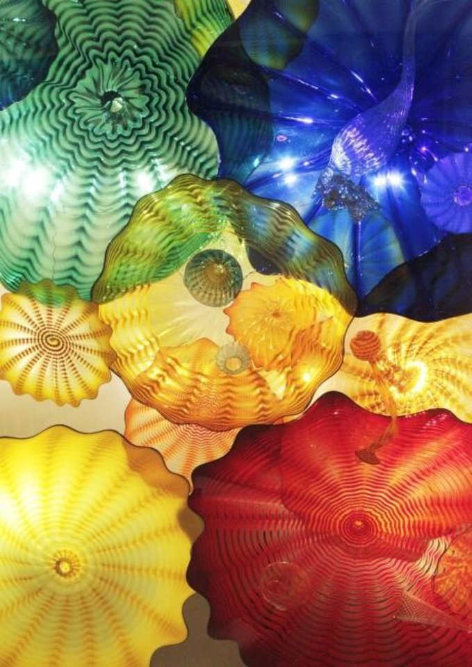 Photo -  The Dale Chihuly glass ceiling is a favorite attraction at the Oklahoma City Museum of Art. [The Oklahoman Archives]