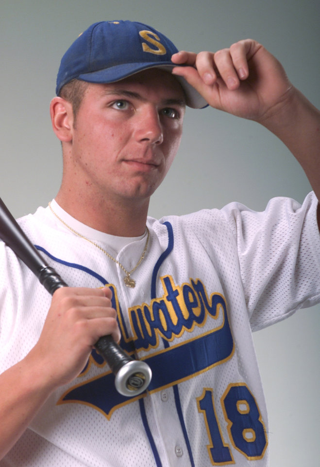 Photo - Josh Fields, Stillwater high school baseball player.  Staff photo by Steve Sisney