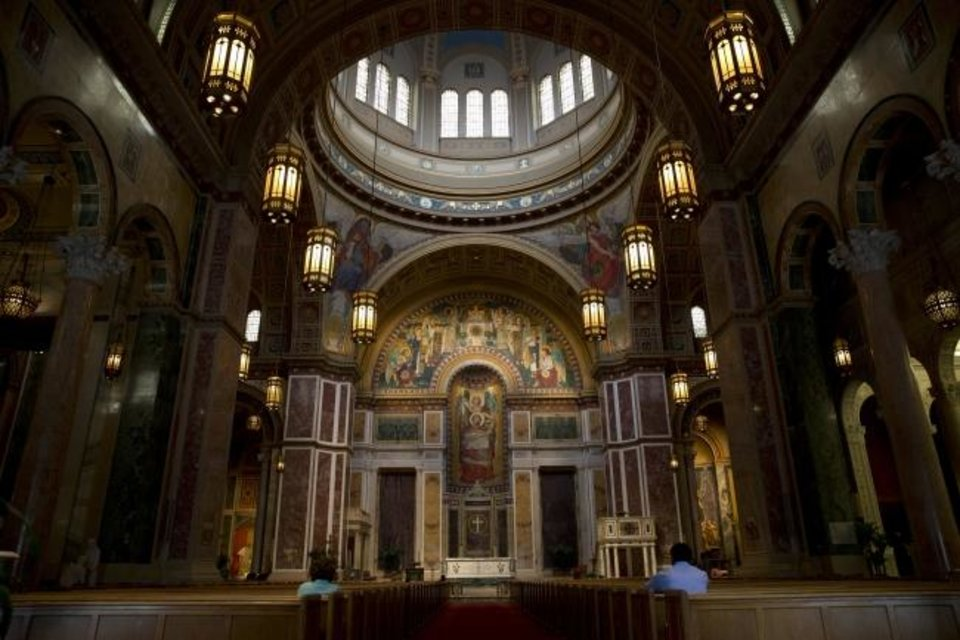 Photo -  This photo from Aug. 31, 2015, shows the nave of St. Matthew's Cathedral in Washington. [AP FILE PHOTO]