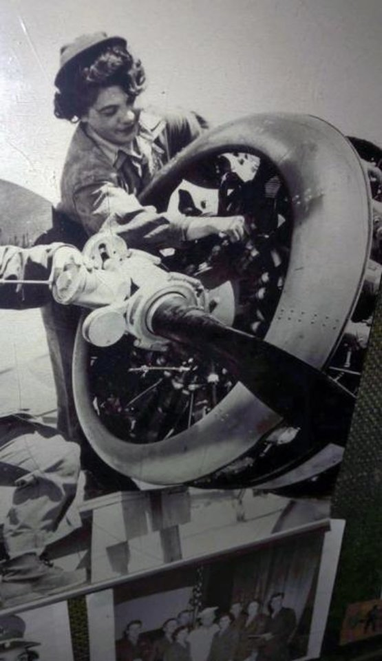 Photo -  Mary Glann was an aviation mechanic during World War II. [PHOTO PROVIDED]