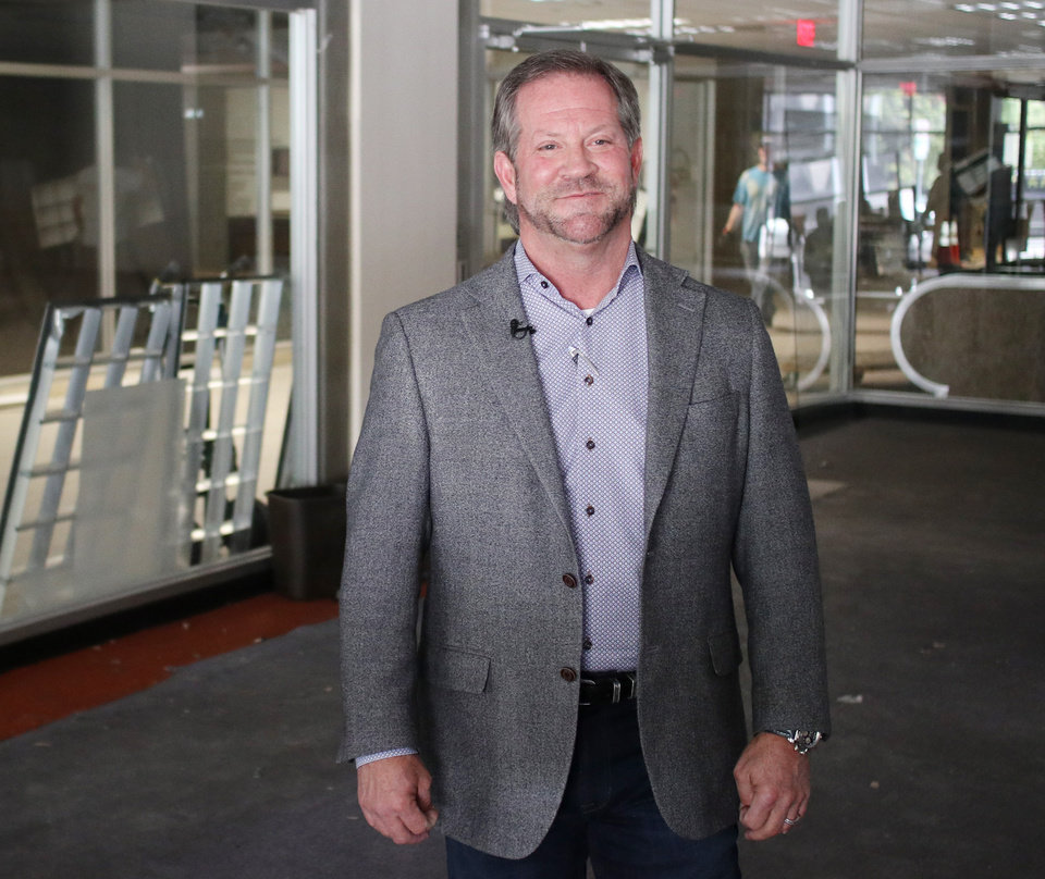 Photo -  Gary Brooks is leading the redevelopment efforts at the First National Center in downtown Oklahoma City. [Photo by Doug Hoke, The Oklahoman]