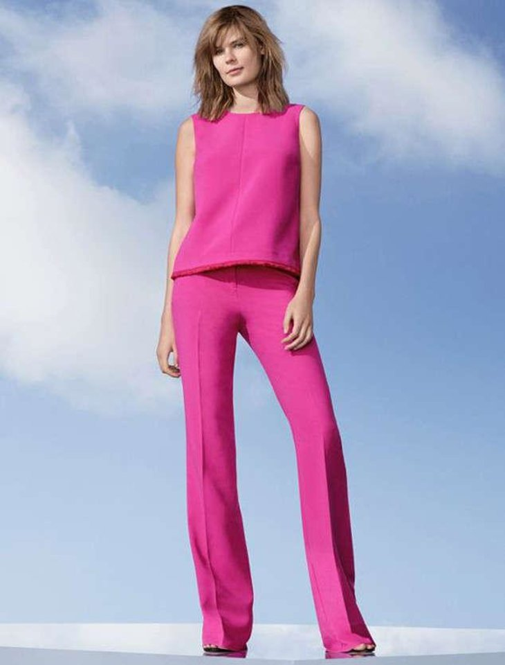 Photo - Victoria Beckham for Target pink top, $26 and flare pants, $40. [Photo Provided]