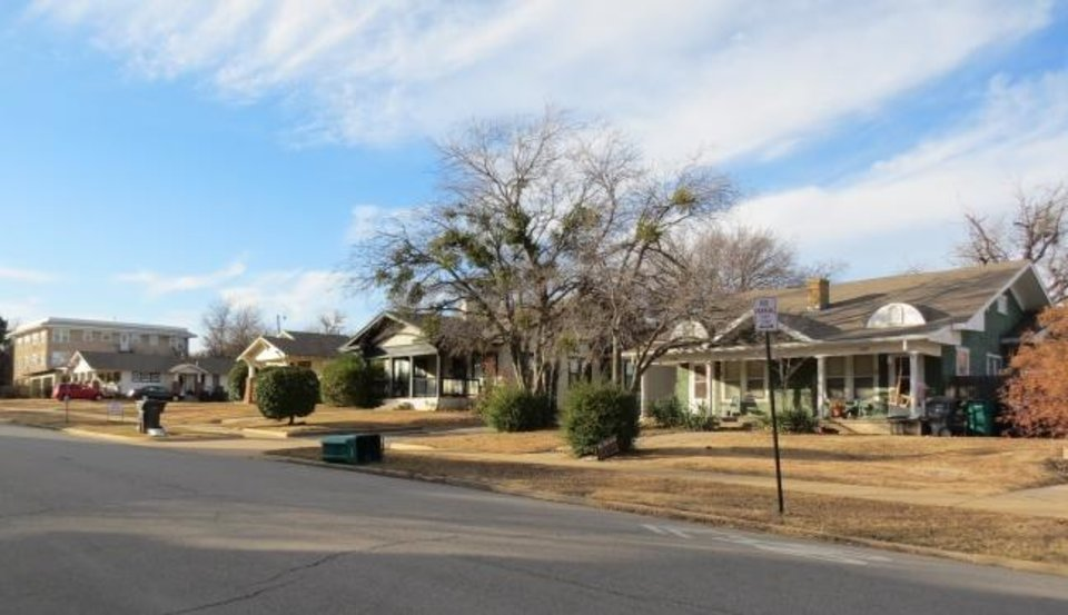 Photo -  A view of Heritage Hills East Historic District is shown in Oklahoma City. [PHOTO PROVIDED BY STATE HISTORIC PRESERVATION OFFICE]