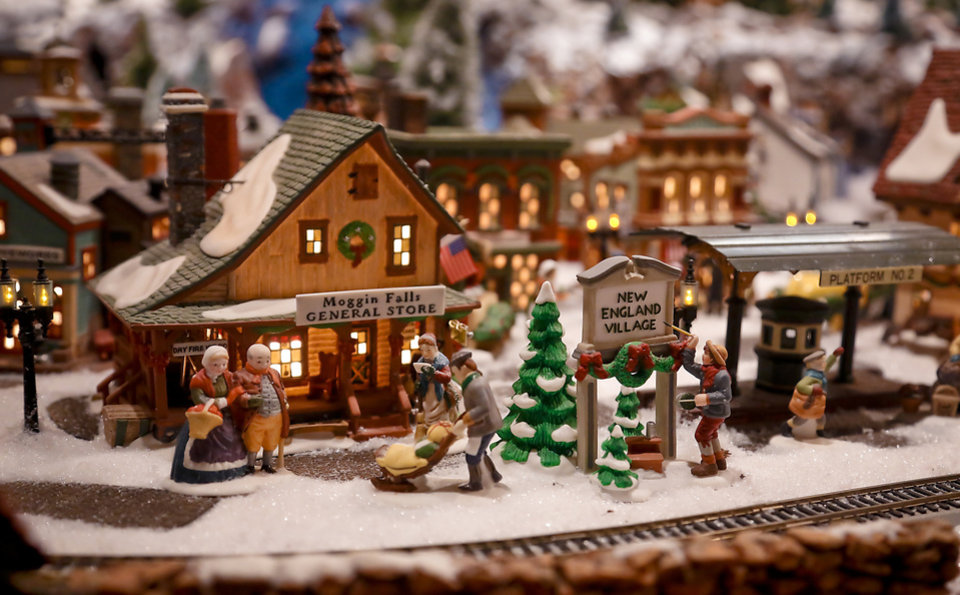 Christmas village grows from coffee table to three-car garage ...