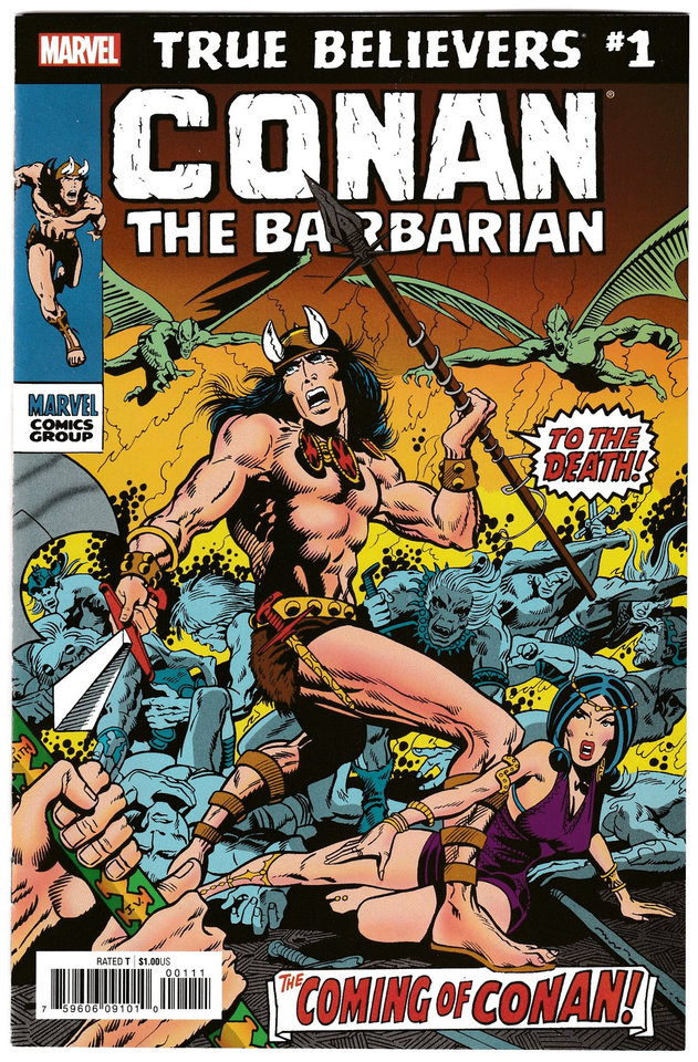 Photo -  Marvel's first adventures of Conan were penned by Roy Thomas and drawn by Barry Windsor-Smith. The first issue has been reprinted as part of Marvel's