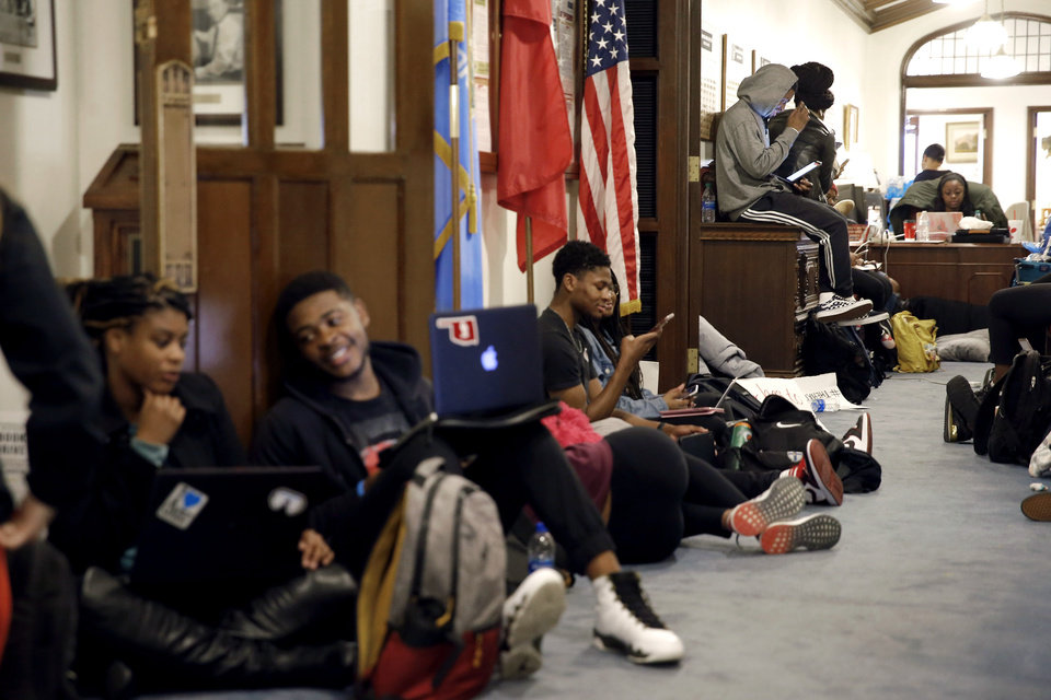 Image result for oklahoma university sit-in protest