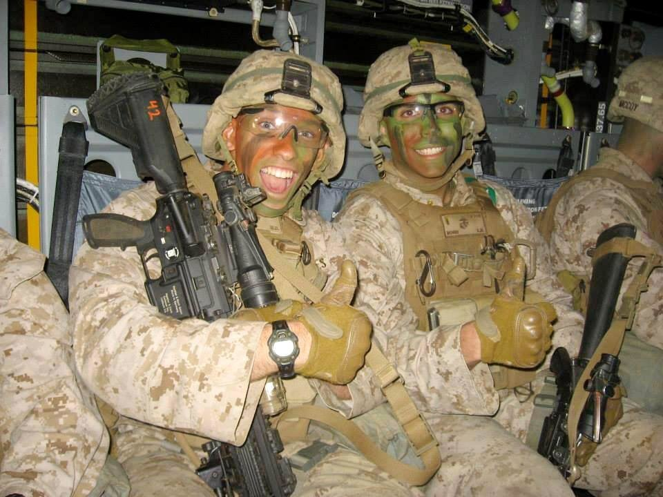Photo -  Marine Anthony Kemp is shown during his tour of duty. Photo provided   PROVIDED