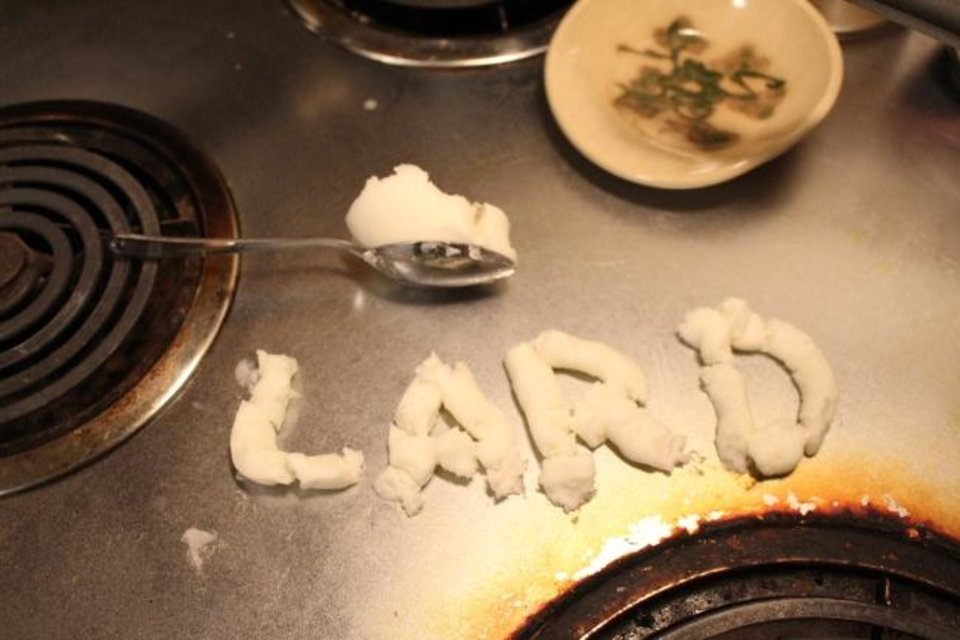Photo -  Could cooking with lard be healthy ... in a roundabout way?