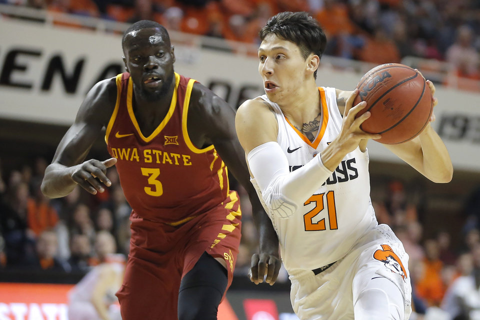 Photo -  Oklahoma State junior Lindy Waters, a Norman native, is used to the heckling that comes with road Bedlam games, but the Cowboys' newcomers are set for their first Big 12 road game. [PHOTO BY BRYAN TERRY, THE OKLAHOMAN]