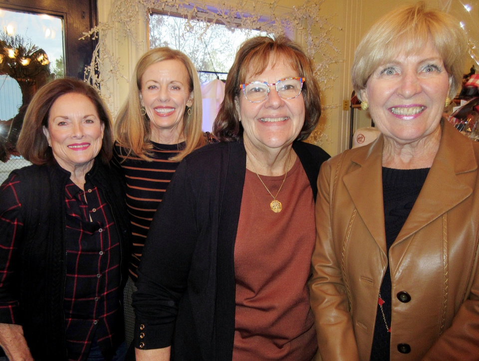Photo - SoRelle Fitzgerald, Penny McCaleb, Gayle Semtner, Susan McPherson. PHOTO BY HELEN FORD WALLACE, THE OKLAHOMAN