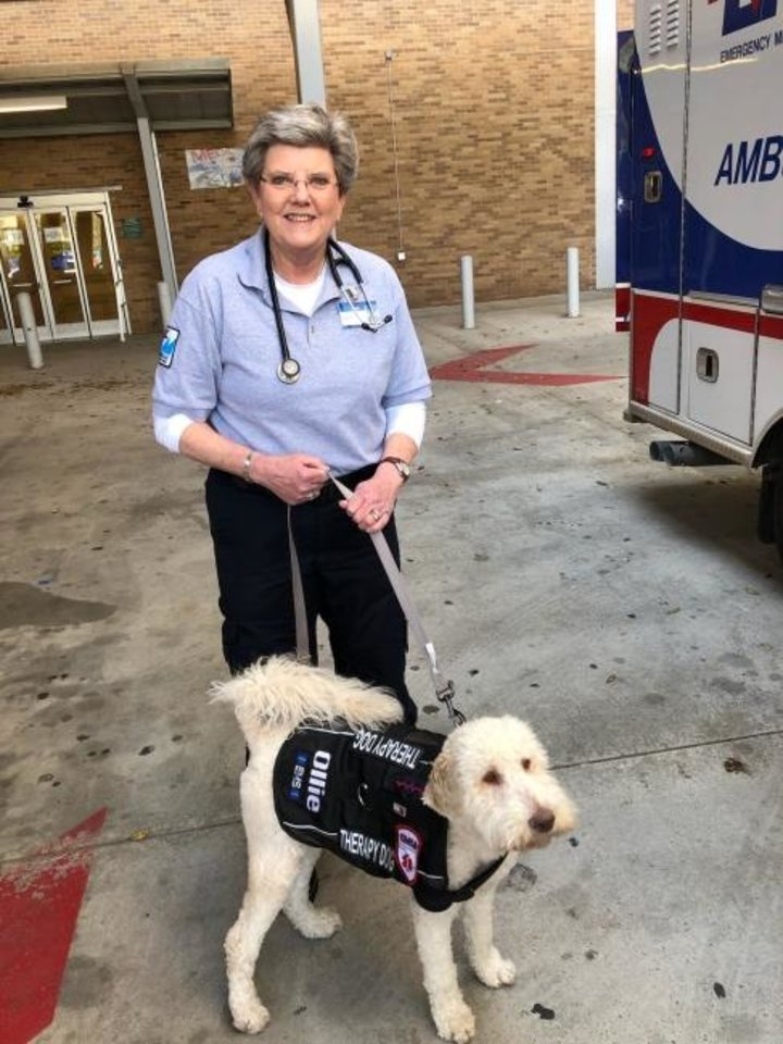 Photo -  To earn her emergency medical technician license, Bird trained six months at Meridian Technology Center and interned with the Emergency Medical Services Authority. [PHOTO PROVIDED]