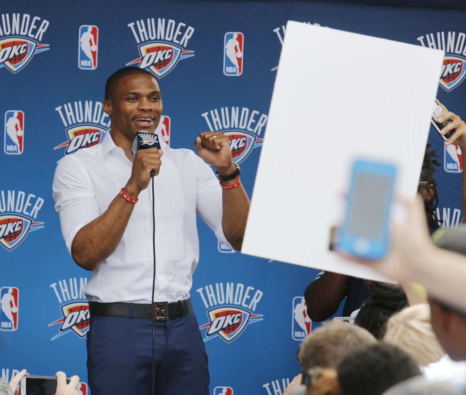 Photo - Russell Westbrook said he is excited to get the season started. (Photo by Doug Hoke, The Oklahoman)