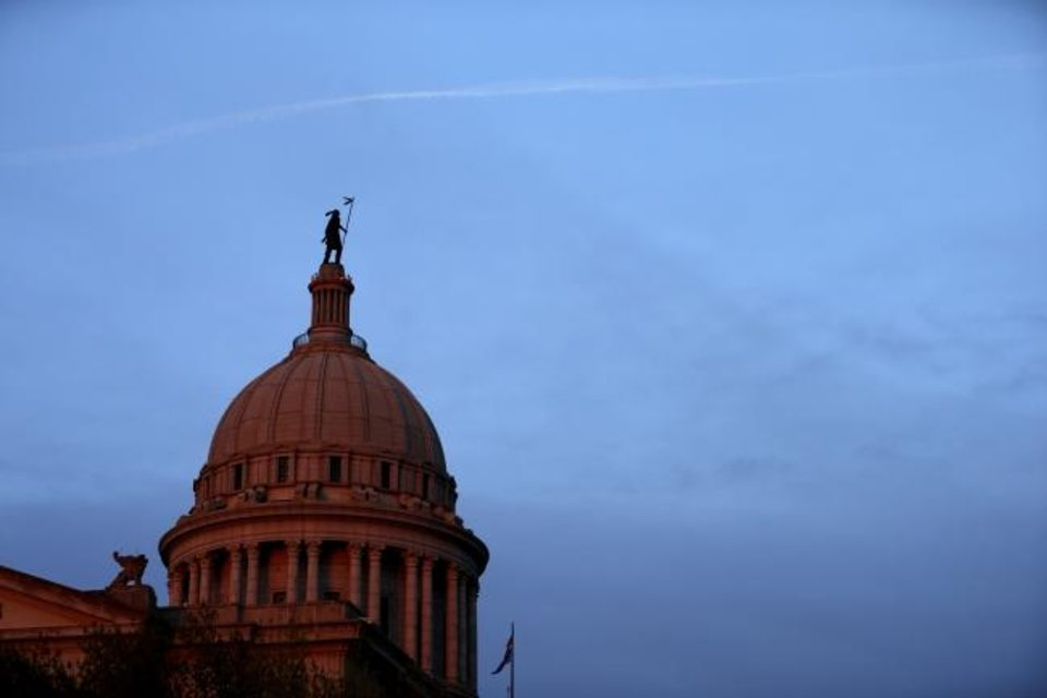 Photo -  The Oklahoma state Capitol in Oklahoma City, Friday, April 5, 2013. Photo by Bryan Terry, The Oklahoman