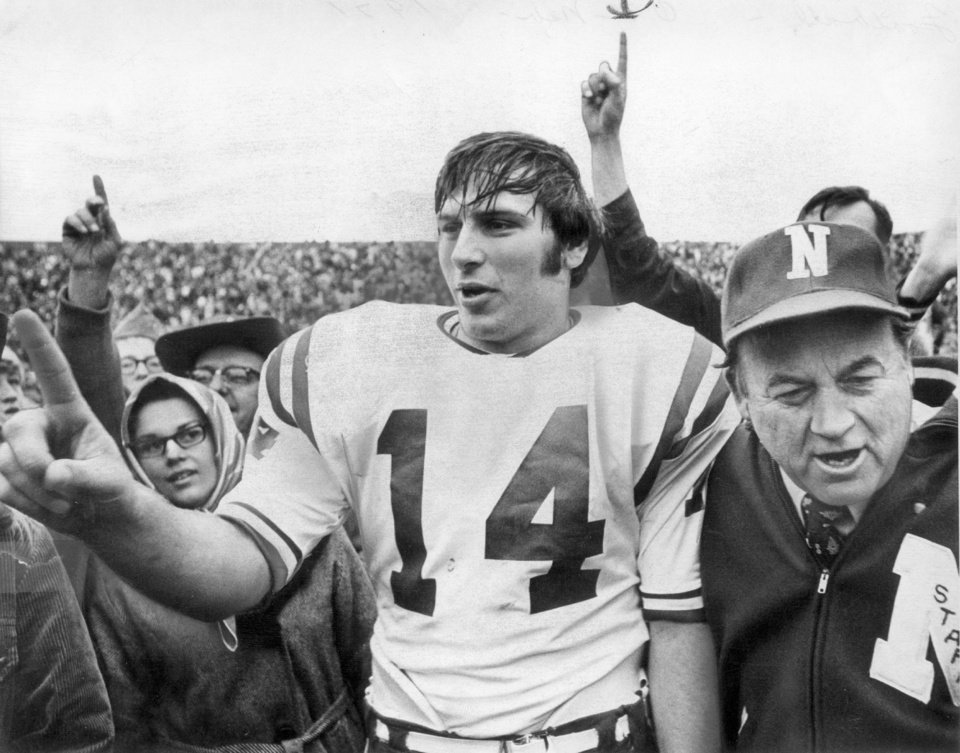 Photo - Nebraska won the Game of the Century, 35-31 at Owen Field in 1971. THE OKLAHOMAN ARCHIVE