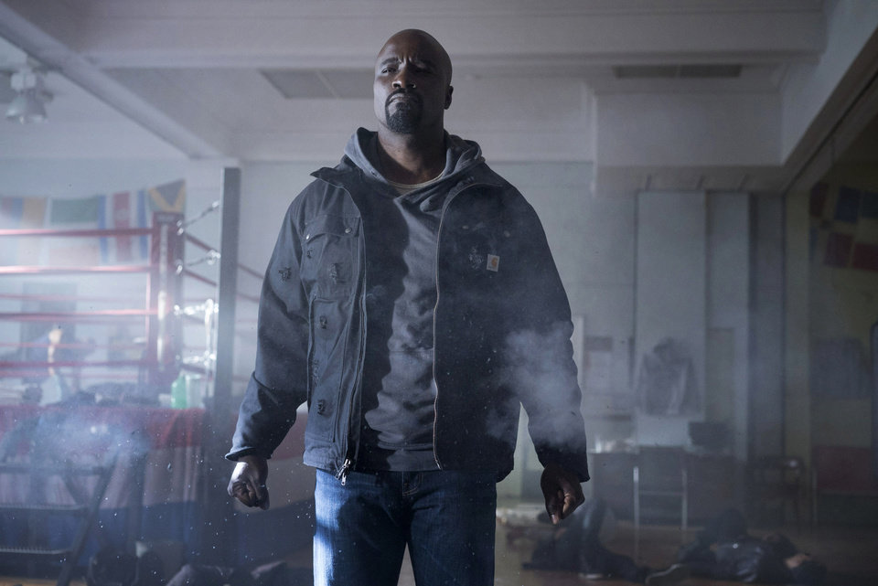 Photo -  Marvel's Luke Cage as played by Mike Colter. [Photo by Myles Aronowitz/Netflix]