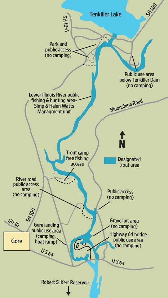 Lower Illinois River A Prime Fishing Spot News OK - Map of illinois rivers