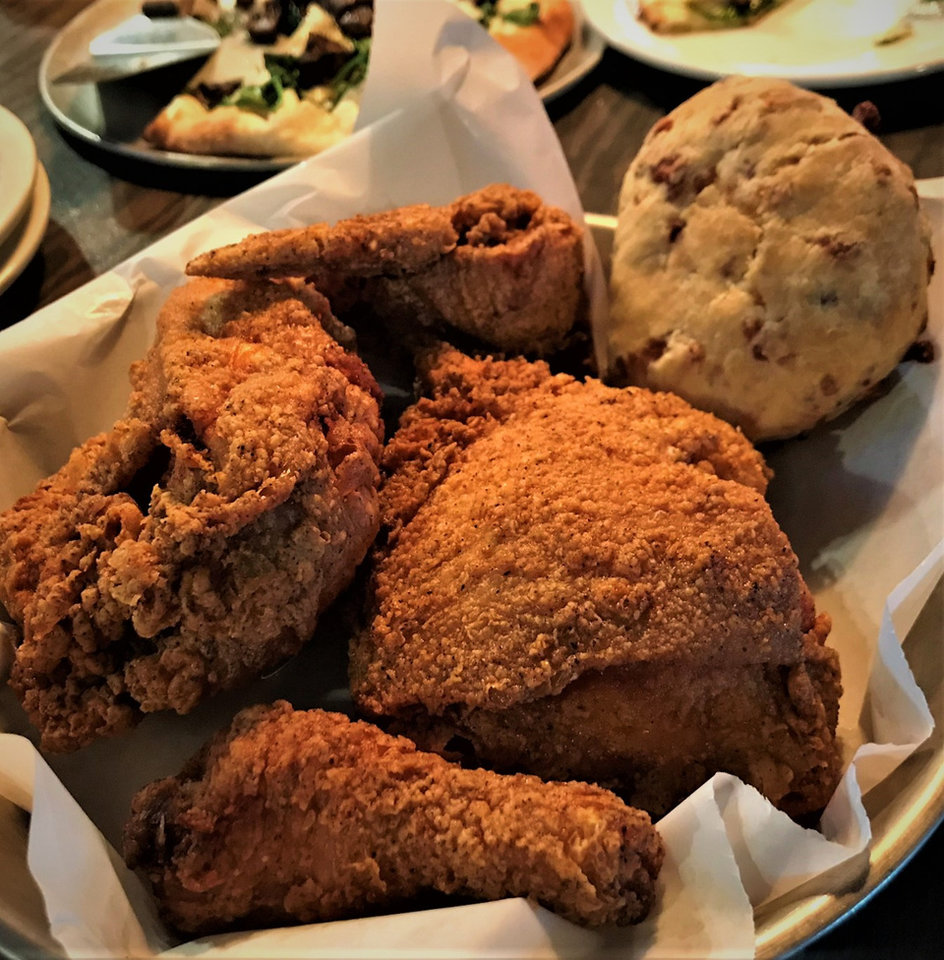 Photo -  Fried Chicken and pizza are specialties at The Drum Room Wedge, which opened in Midwest City just before the end of 2018. [Photo by Dave Cathey, The Oklahoman]