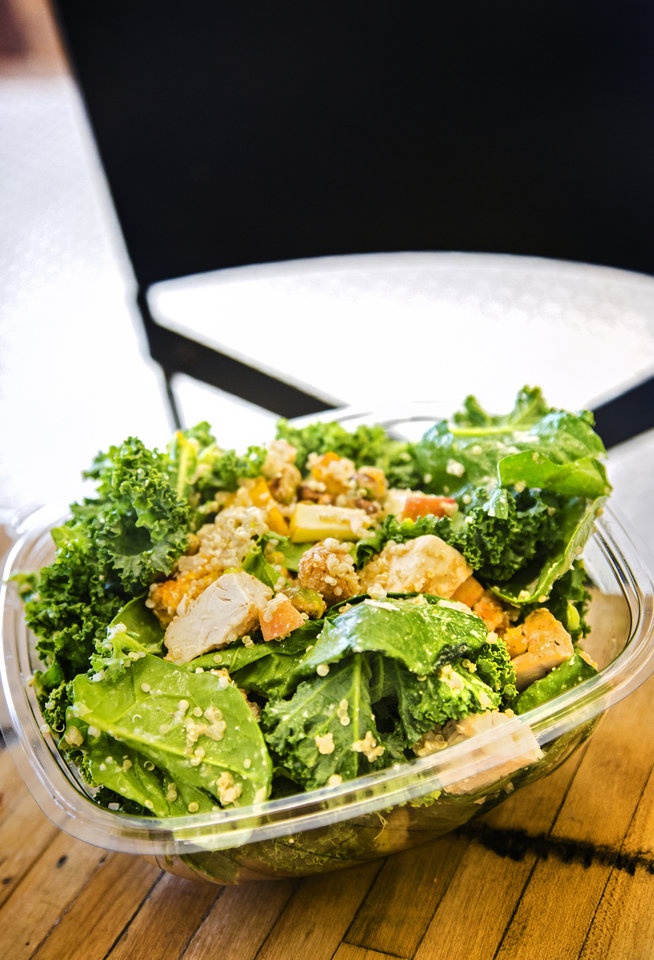 Photo -  A salad high in protein prepared at Provision Kitchen that is essential in the diet of the Baby Boomer generation. [Photo by Chris Landsberger, The Oklahoman]