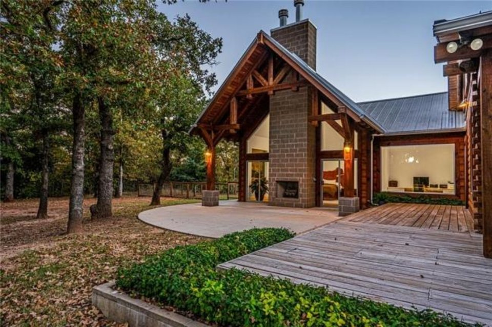 Photo -  Deck at the Listing of the Week, on 12.25 acres at 14800 NE 164, in Jones. [PHOTO PROVIDED]