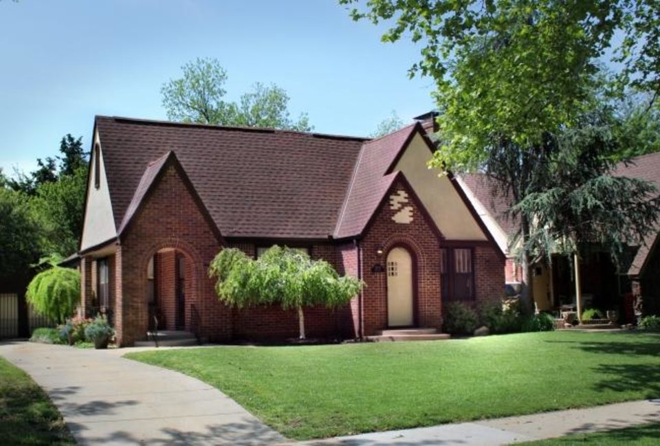 Photo -  The Gables home at 2630 NW 13, a Tudor Revival built in 1929, is on the Miller in May Home Tour. [PHOTO PROVIDED]