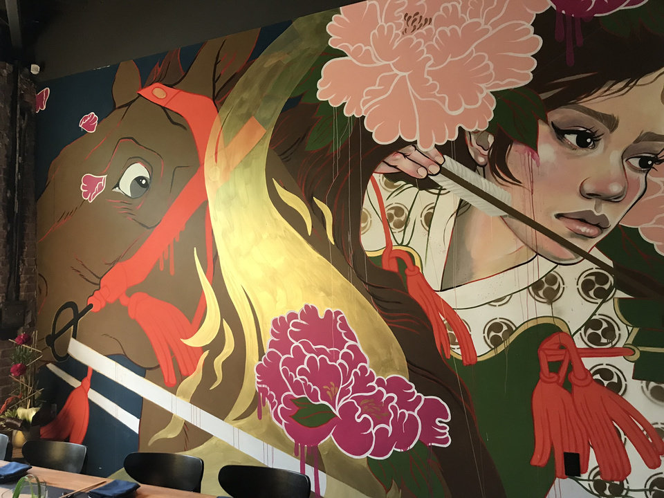 Photo - Gun Izakaya is home to the work of local artists. [Dave Cathey/The Oklahoman]