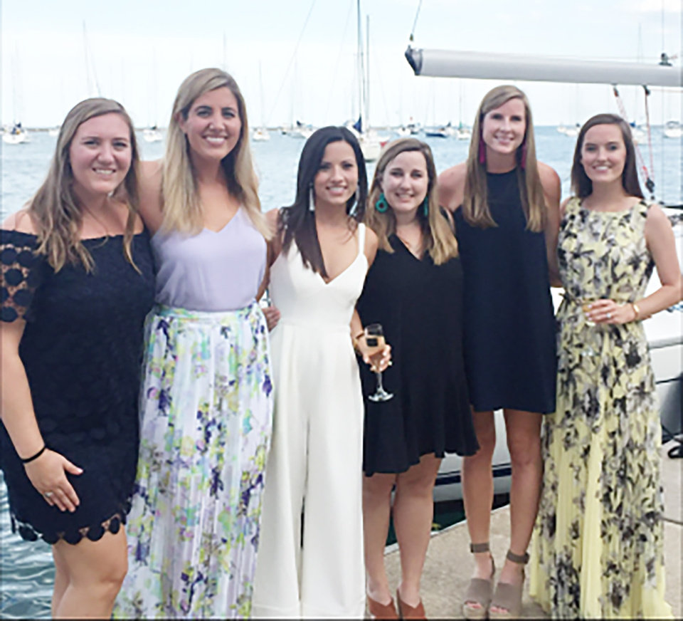 Photo - Taylor Mills Sanders, Lizzie Ferguson, Blair Bookman Patterson, Christal Miller, Kelly Cumpiano, Megan Swisher Rayle. PHOTO PROVIDED