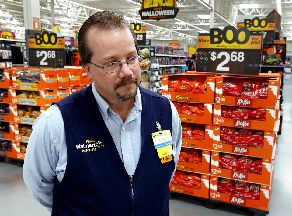 store manager mike hayes talks about features of his new walmart supercenter at 3301 sw 104 - Halloween Stores Oklahoma City
