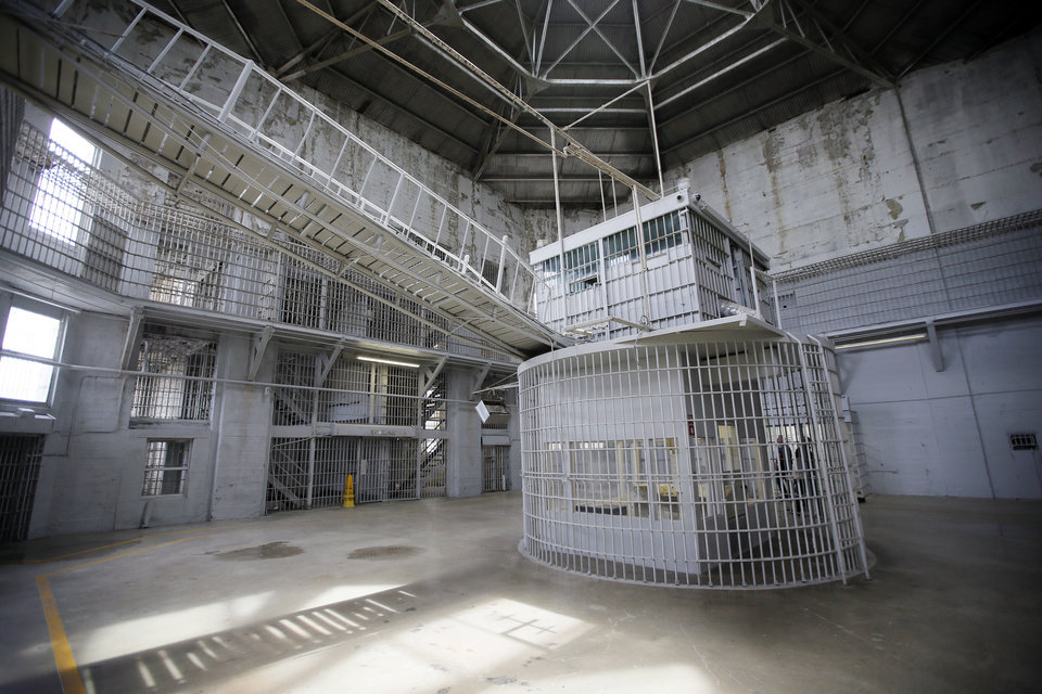 Photo - The rotunda at the Oklahoma State Penitentiary in McAlester, Okla., Thursday, Aug. 18, 2016. Photo by Nate Billings, The Oklahoman