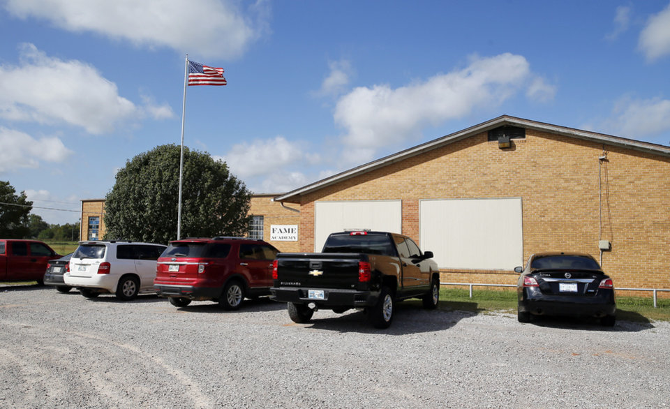 Photo - The exterior of FAME Academy, an alternative school in Comanche Public Schools, in Meridian, Okla., Wednesday, Oct. 3, 2018. Photo by Nate Billings, The Oklahoman
