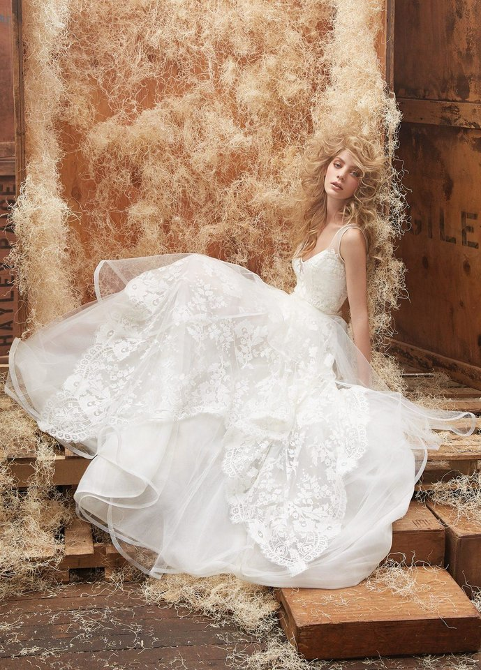 Wedding Gown Trunk Shows 42 Beautiful Hayley Paige ivory lace