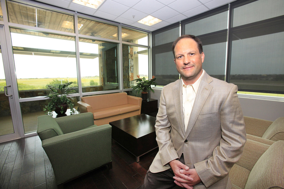 Photo -  Paycom Software CEO Chad Richison, Friday, May 16, 2014. Photo by David McDaniel, The Oklahoman