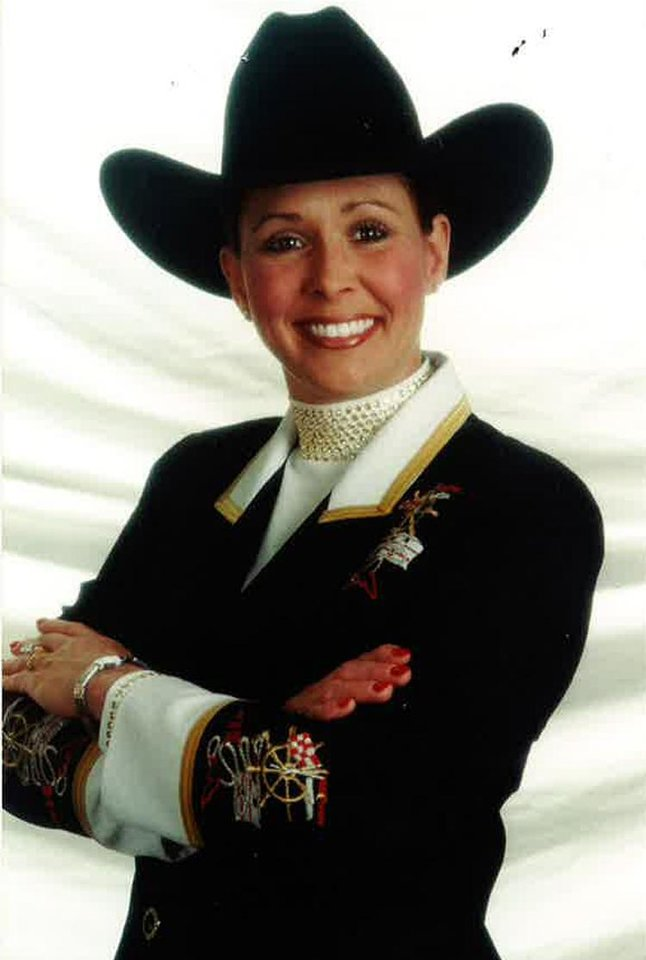 Photo - Rebecca Halvorson is pictured. Photo provided by the American Quarter Horse Association