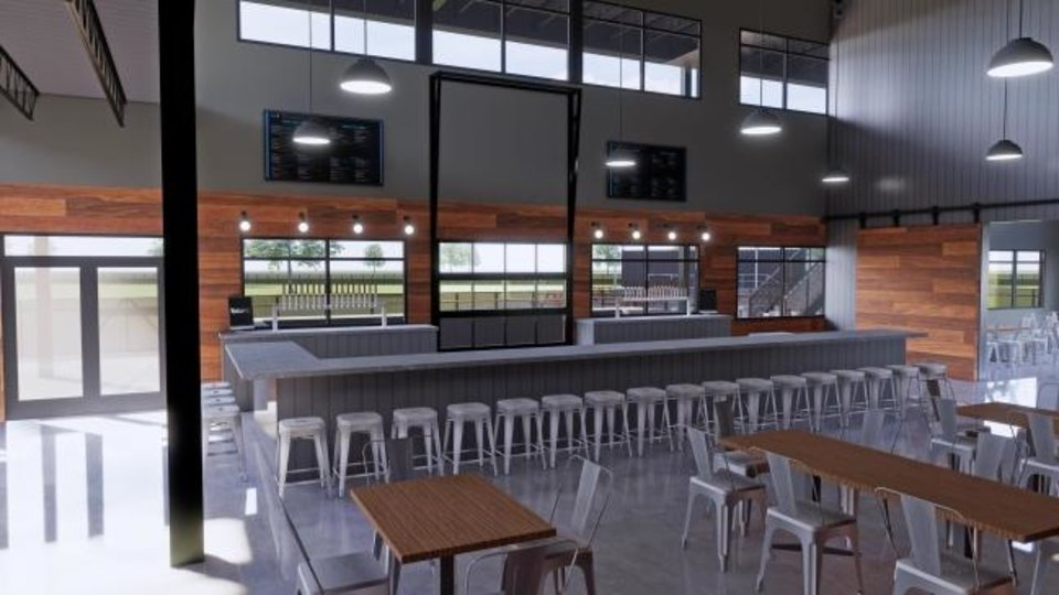 Photo -  The indoor dining and bar area at Bar K is shown in this conceputal rendering. Provided.