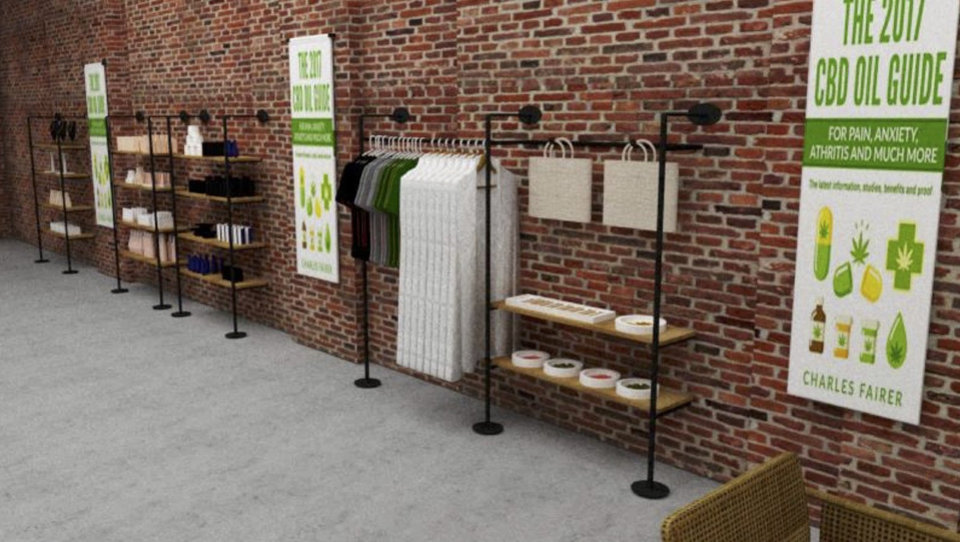 Photo -  An array of organic foods, pet items and cosmetics will be sold in the CBD store set to open next month in the Plaza District. [Photo provided]
