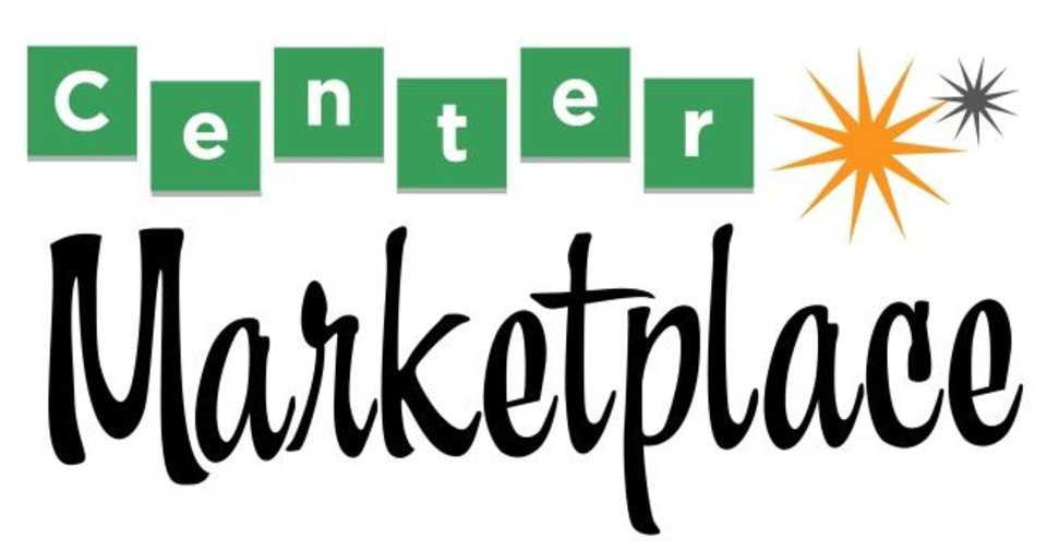 Photo -  The font and art work of the Center Marketplace logo reflect the future shopping center's throwback 1960s motif. [IMAGE PROVIDED]