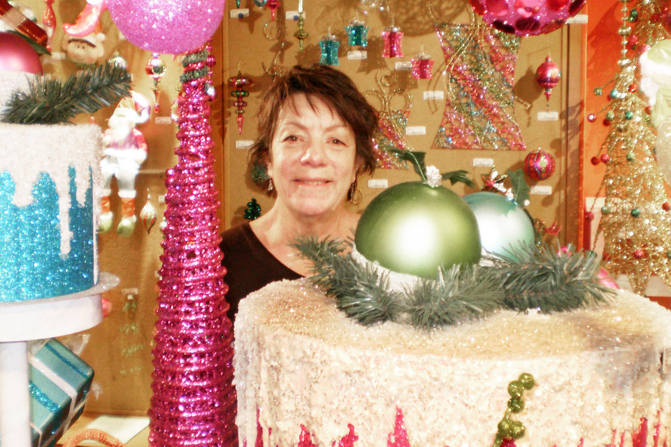 barbara demarest of kingston is showroom manager for north star by premier a christmas decor store in the world trade center in dallas