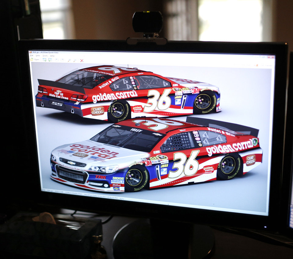 Scott bates car designs are pictured on his computer in muskogee okla tuesday oct 29 2013 photo by sarah phipps the oklahoman