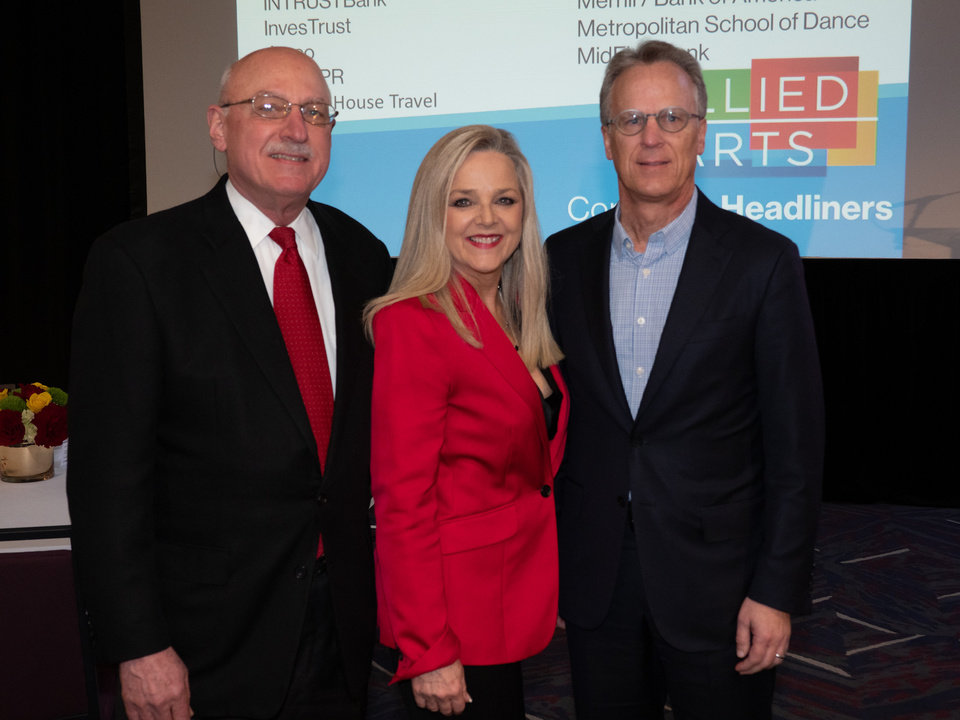 Photo - Pictured, from left, are James A. Pickel, honorary chair; Deborah McAuliffe Senner, president and CEO, and Mark Beffort, campaign co-chair. [PHOTO BY CARL SHORTT]