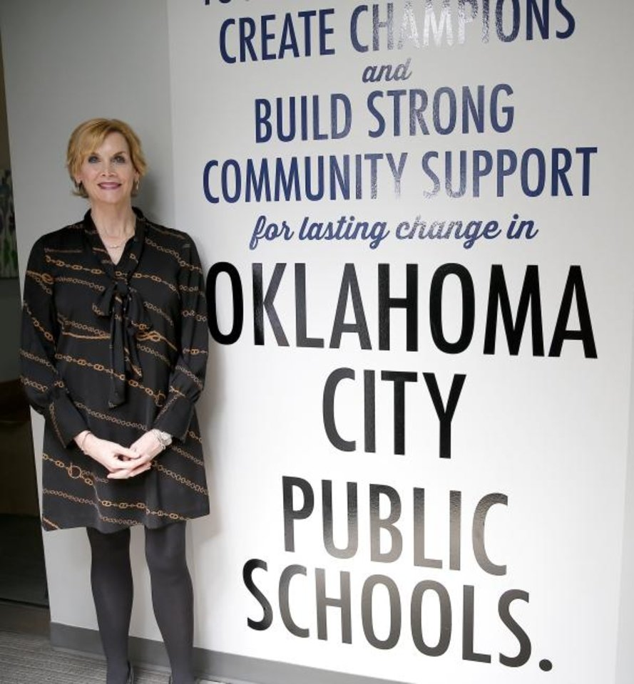 Photo -  Mary Melon, president and CEO, The Foundation for Oklahoma City Public Schools poses for a photograph March 11 in Oklahoma City. [Sarah Phipps/The Oklahoman]